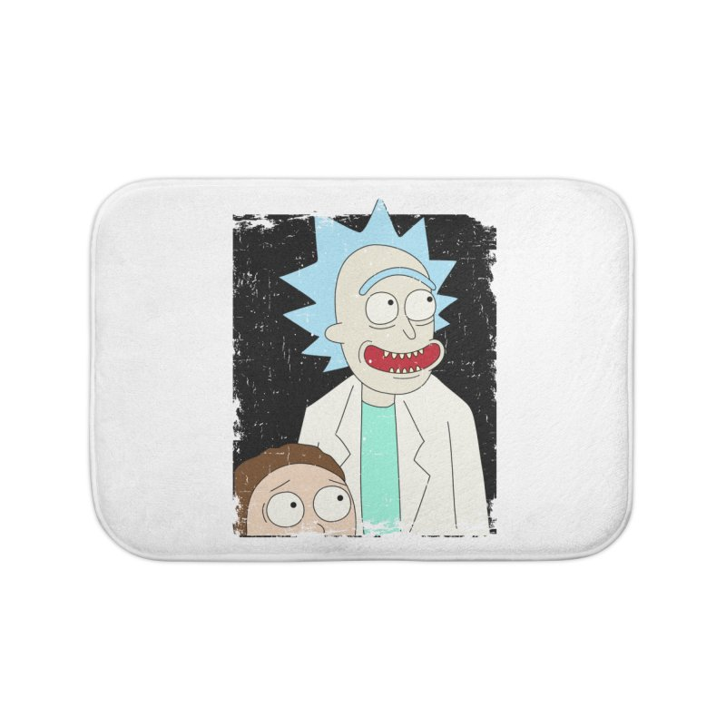 Rick and Morty Portrait Home Bath Mat by Diardo's Design Shop
