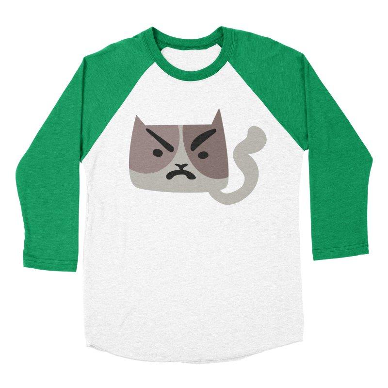 Cat in bad mood in Men's Baseball Triblend Longsleeve T-Shirt Tri-Kelly Sleeves by Dicker Dandy