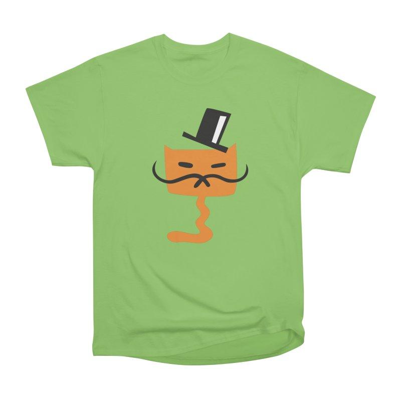 Fine Cat in Men's Heavyweight T-Shirt Kiwi by Dicker Dandy