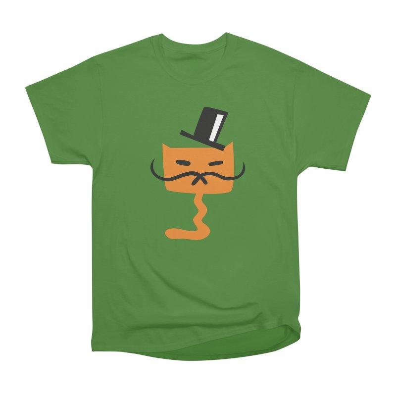 Fine Cat in Men's Classic T-Shirt Leaf by Dicker Dandy