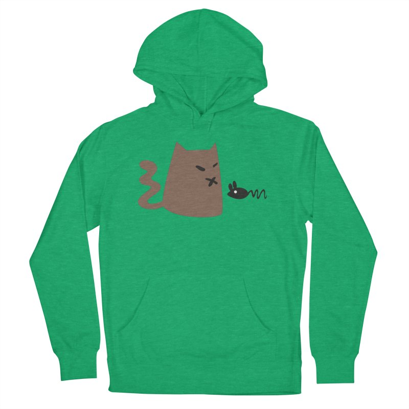 Cat and Mouse in Men's French Terry Pullover Hoody Heather Kelly by Dicker Dandy