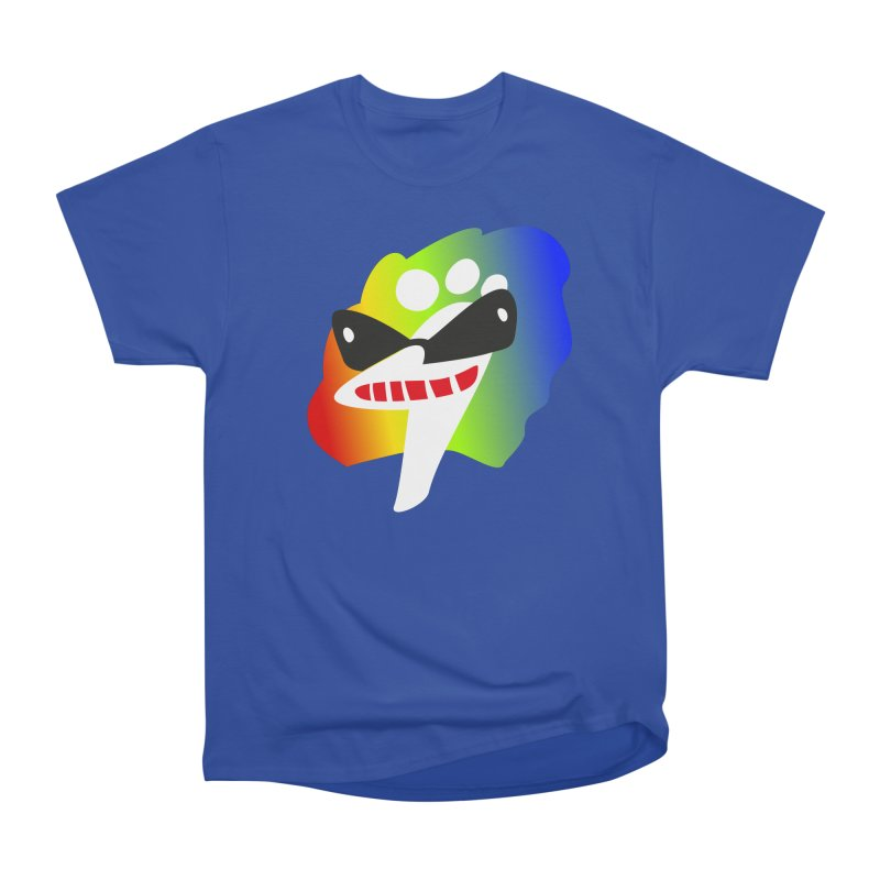 Party Ostrich in Men's Heavyweight T-Shirt Royal Blue by Dicker Dandy