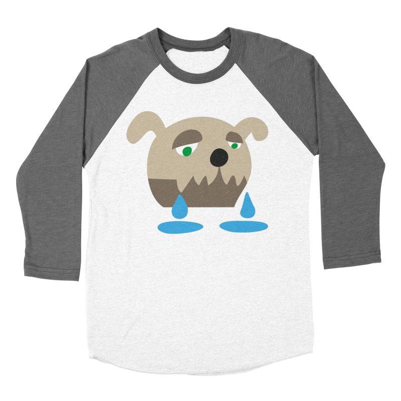 Bulldog in Women's Baseball Triblend T-Shirt Tri-Grey Sleeves by Dicker Dandy