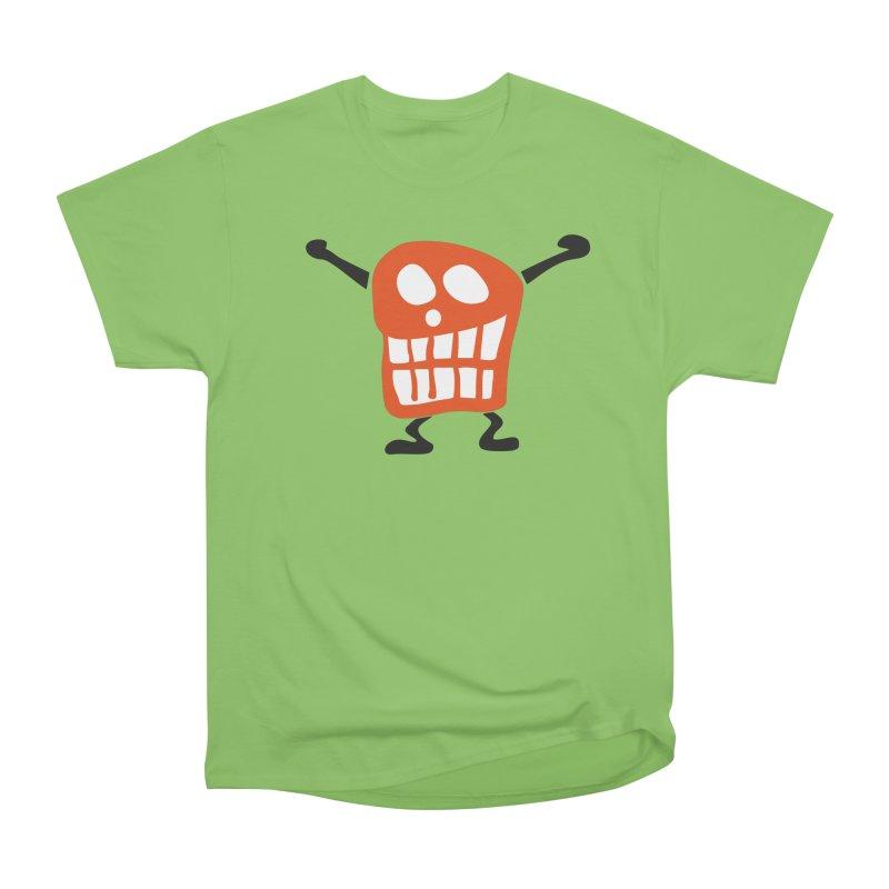 Big Smile in Men's Heavyweight T-Shirt Kiwi by Dicker Dandy