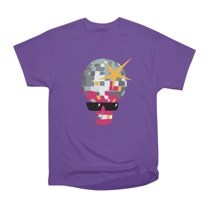 Disco Berti in Men's Heavyweight T-Shirt Purple by Dicker Dandy