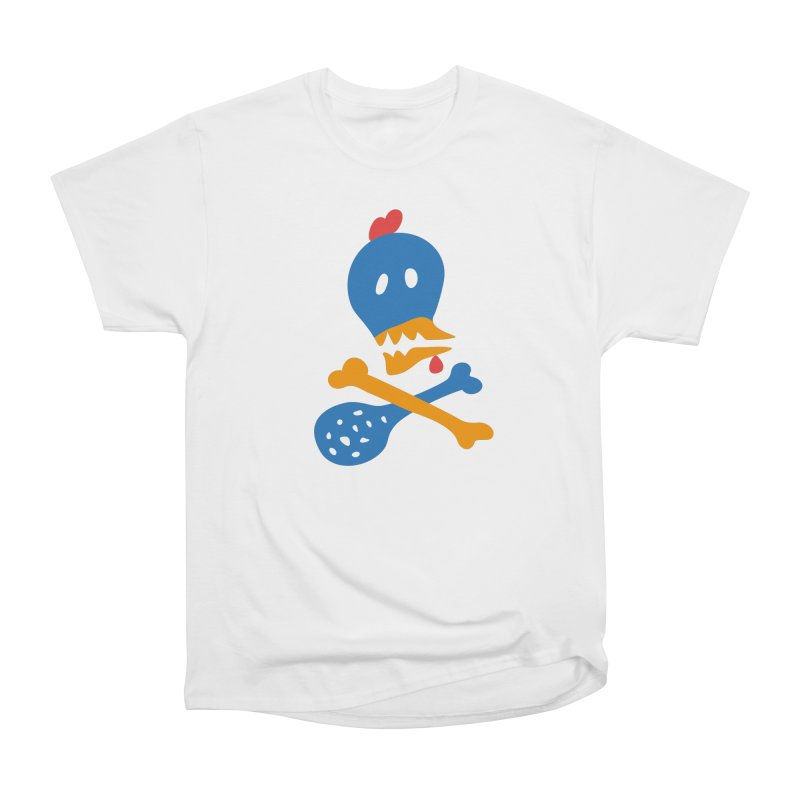 Fried Chicken in Men's Classic T-Shirt White by Dicker Dandy