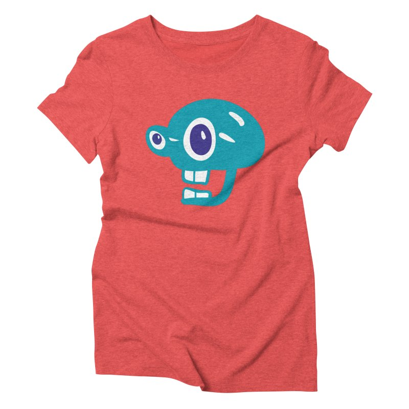 Peeping Tom in Women's Triblend T-Shirt Chili Red by Dicker Dandy