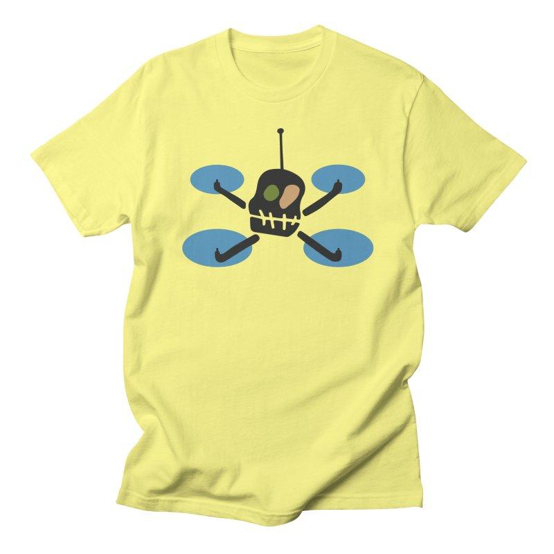 UFO Skull in Men's T-Shirt Lemon by Dicker Dandy