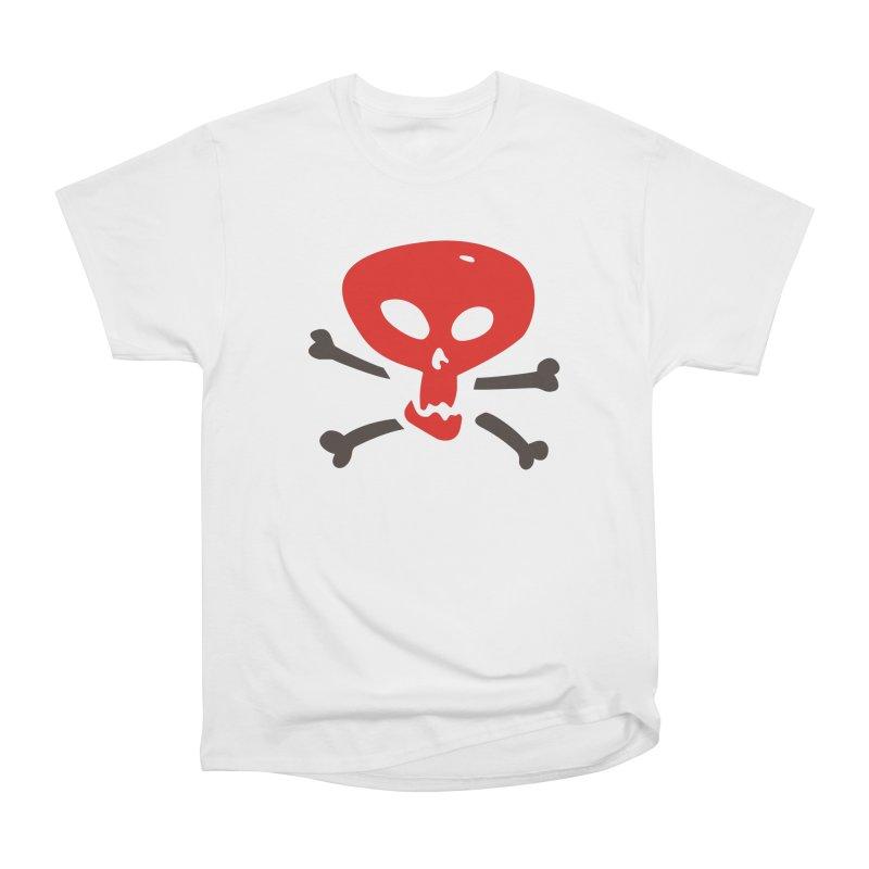 Chuckling in Women's Heavyweight Unisex T-Shirt White by Dicker Dandy