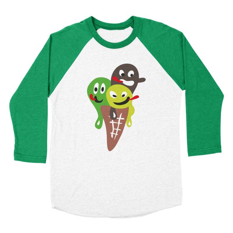 Icecream in Men's Baseball Triblend T-Shirt Tri-Kelly Sleeves by Dicker Dandy