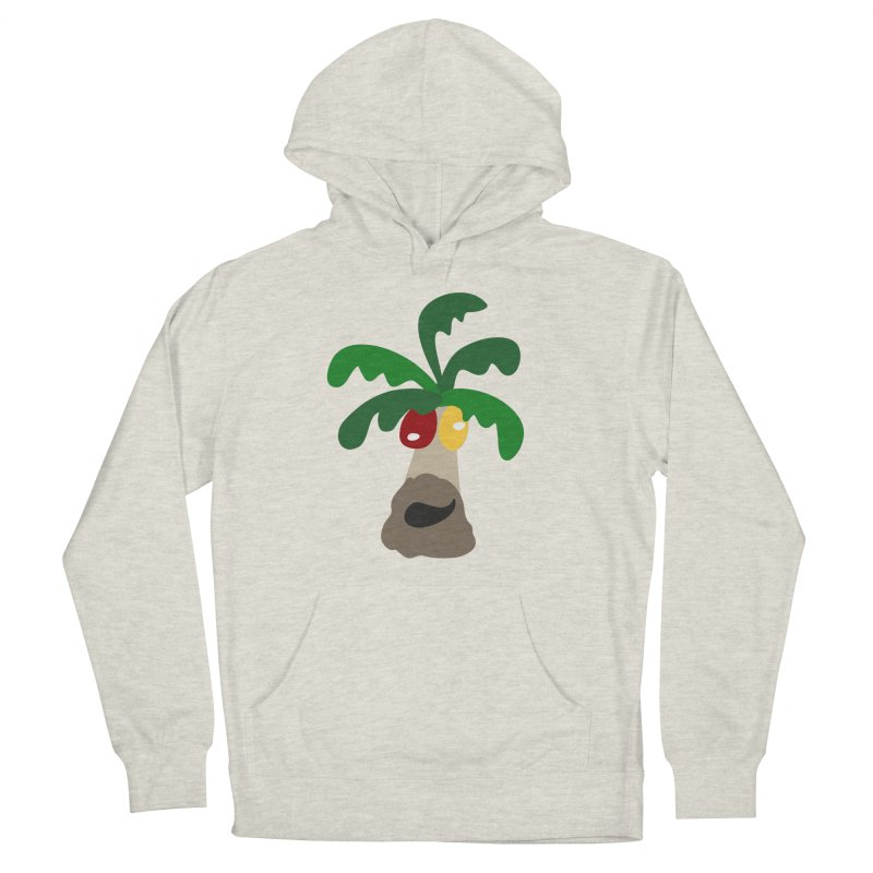 Palm Tree in Men's Pullover Hoody Heather Oatmeal by Dicker Dandy