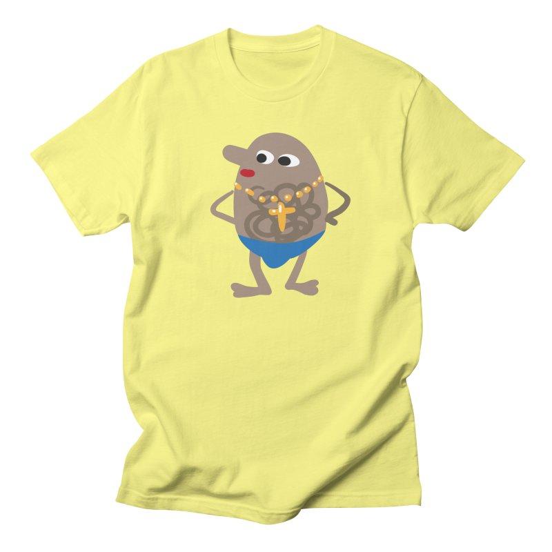 Beach Boy in Men's Regular T-Shirt Lemon by Dicker Dandy