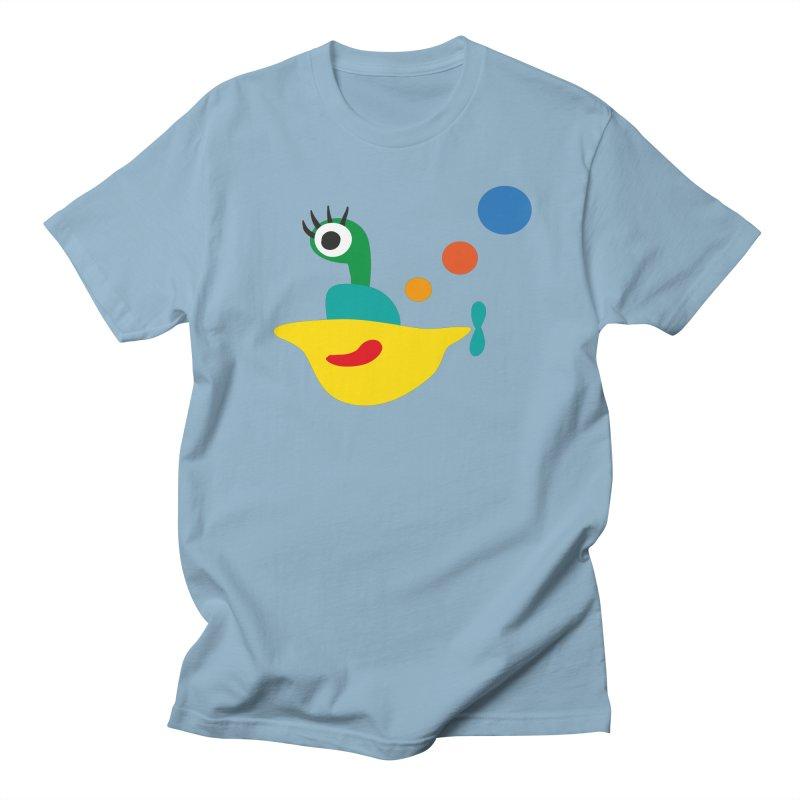 Hello Submarine in Men's Regular T-Shirt Light Blue by Dicker Dandy