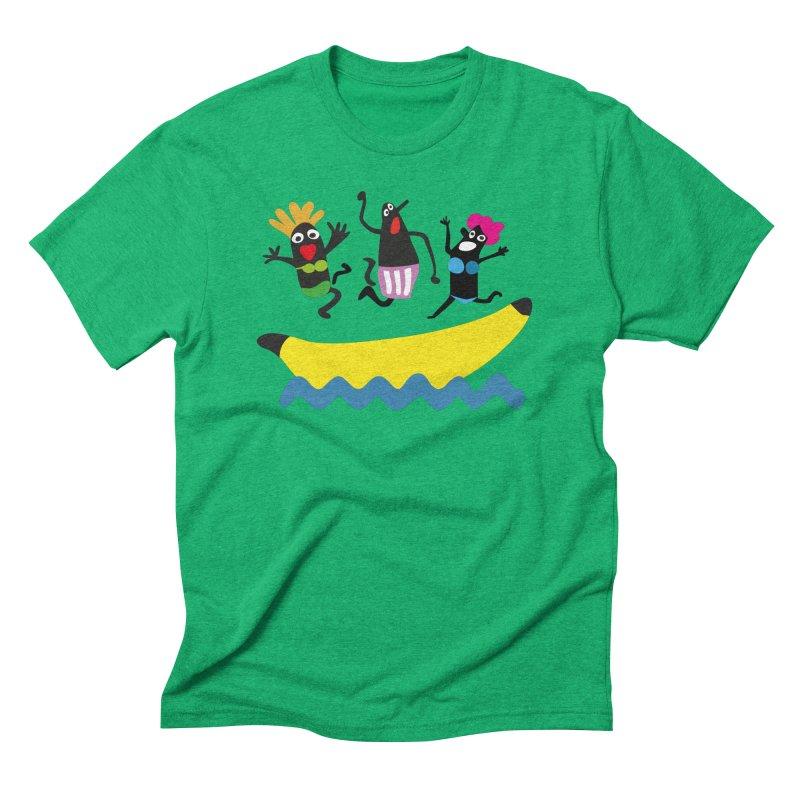Funny Banana Boat in Men's Triblend T-Shirt Tri-Kelly by Dicker Dandy