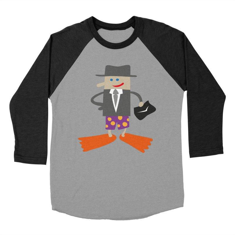 Beach Business in Men's Baseball Triblend T-Shirt Heather Onyx Sleeves by Dicker Dandy