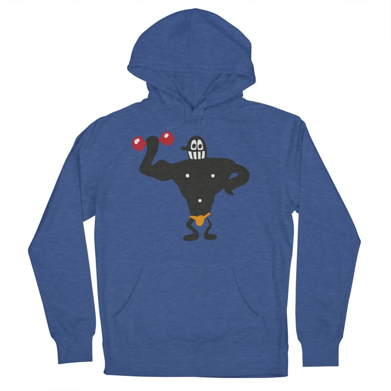 Muscle Man in Men's Pullover Hoody Heather Royal by Dicker Dandy