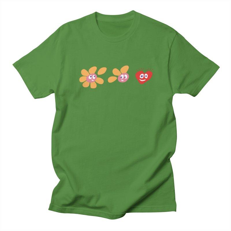 It is love in Men's T-Shirt Clover by Dicker Dandy