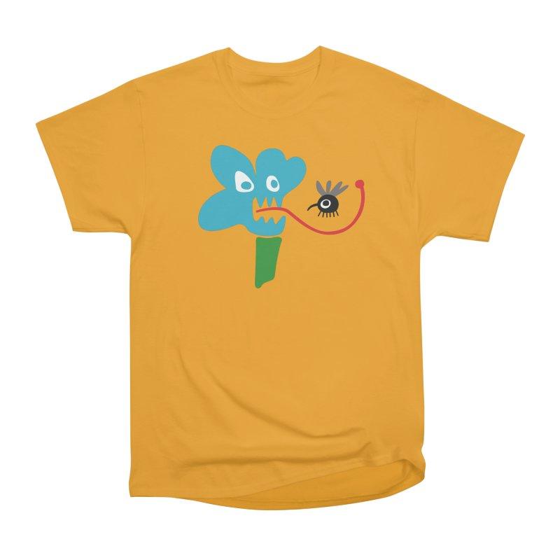 Flower Trap in Men's Heavyweight T-Shirt Gold by Dicker Dandy