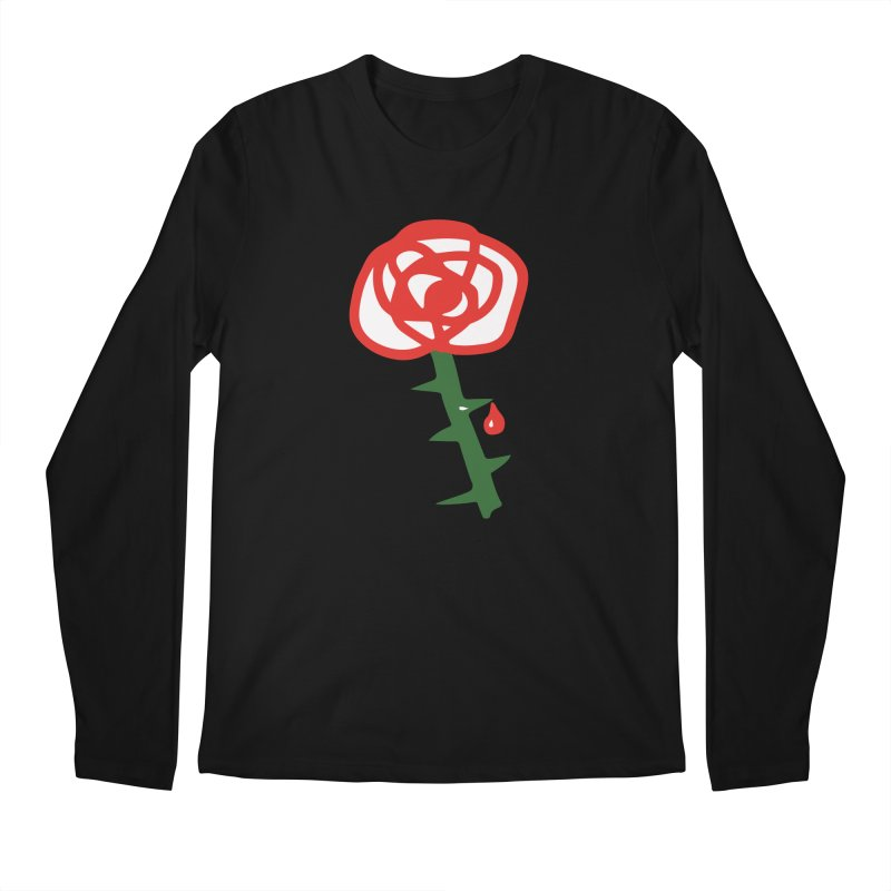 Rose Men's Regular Longsleeve T-Shirt by Dicker Dandy
