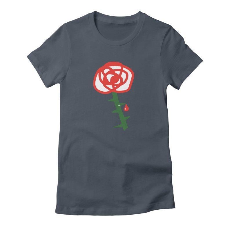 Rose Women's French Terry Zip-Up Hoody by Dicker Dandy