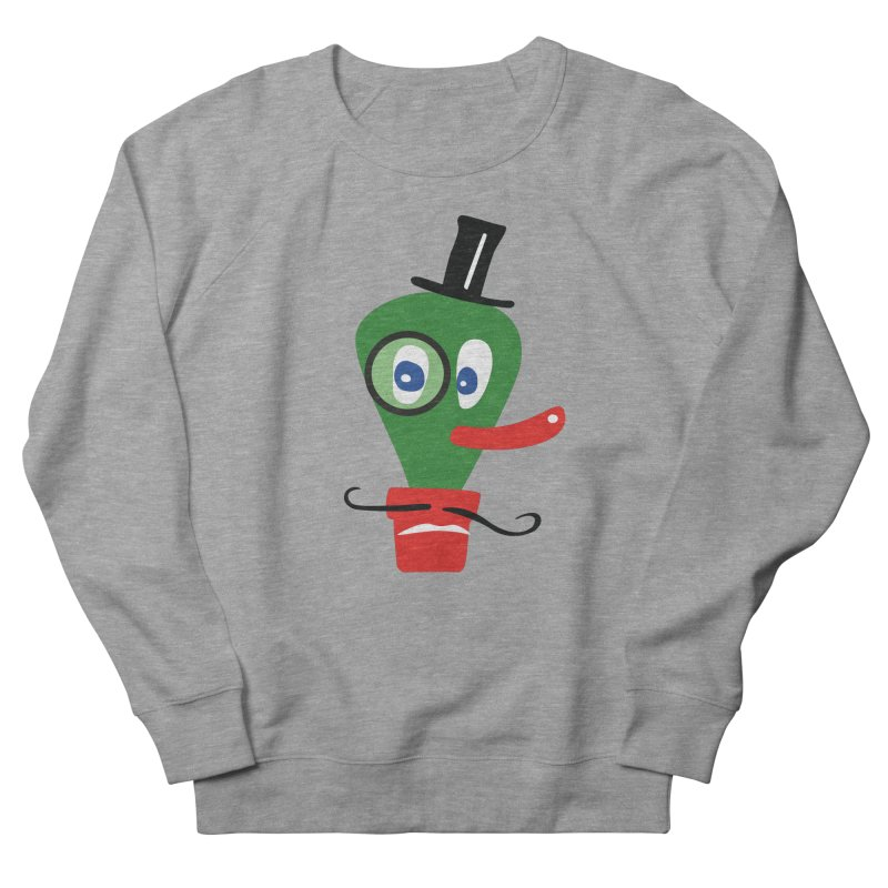 Mr. Monocle in Men's French Terry Sweatshirt Heather Graphite by Dicker Dandy