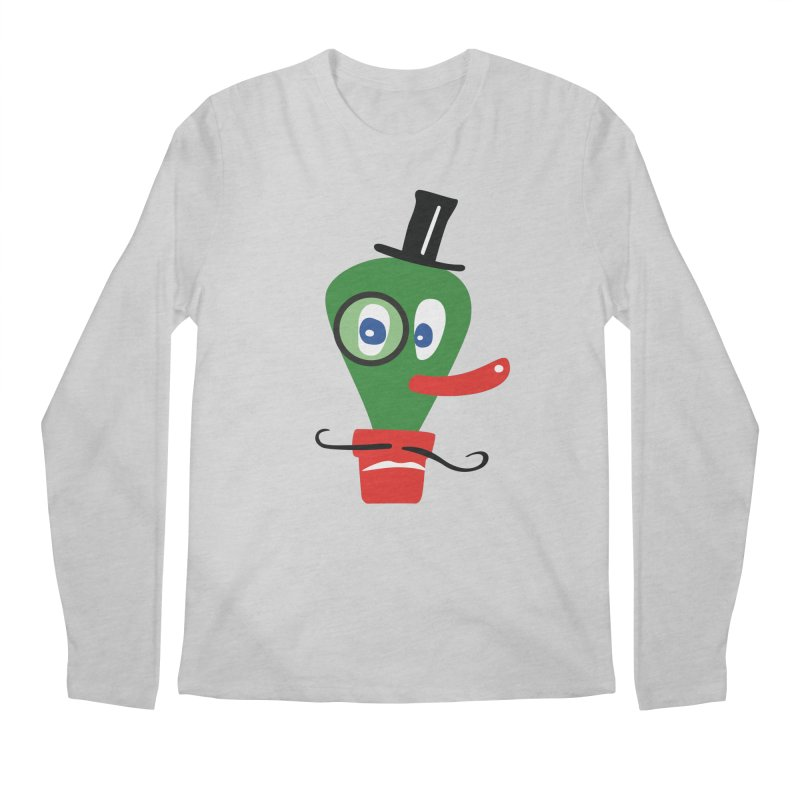 Mr. Monocle Men's Regular Longsleeve T-Shirt by Dicker Dandy