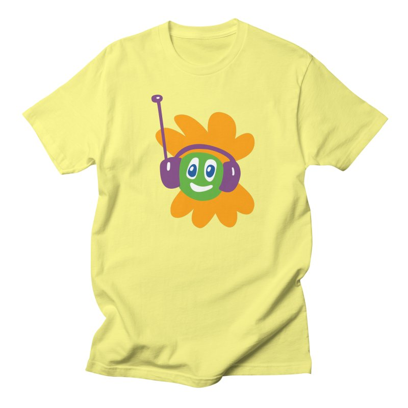 Groovy Flowerhead in Men's Regular T-Shirt Lemon by Dicker Dandy
