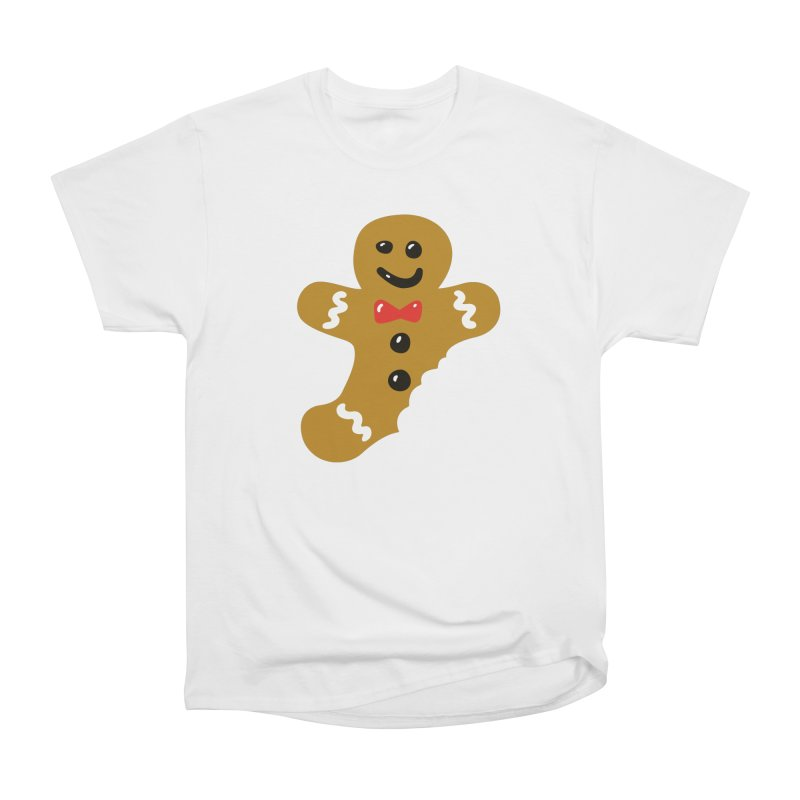 Gingerbread Man in Men's Classic T-Shirt White by Dicker Dandy