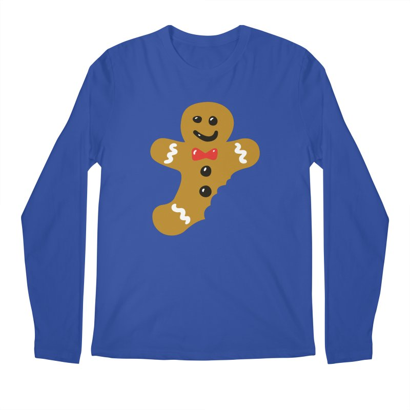 Gingerbread Man Men's Regular Longsleeve T-Shirt by Dicker Dandy