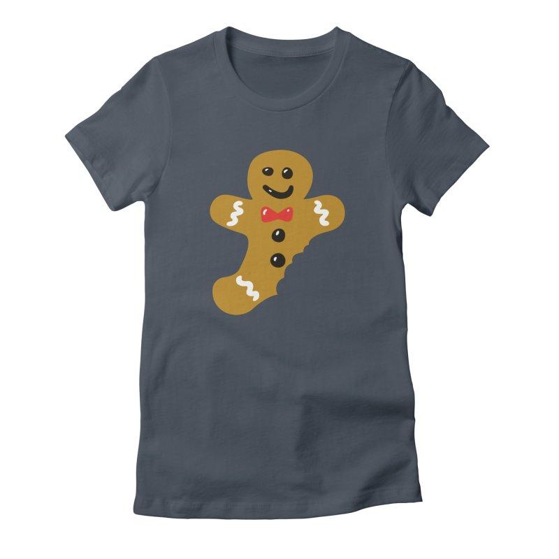 Gingerbread Man Women's French Terry Zip-Up Hoody by Dicker Dandy