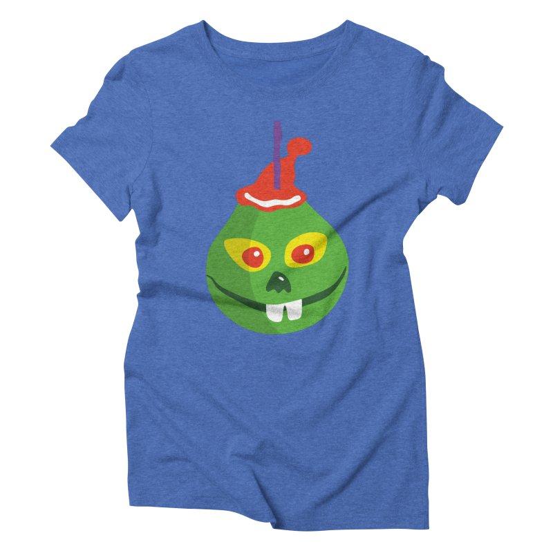Grinch in Women's Triblend T-Shirt Blue Triblend by Dicker Dandy
