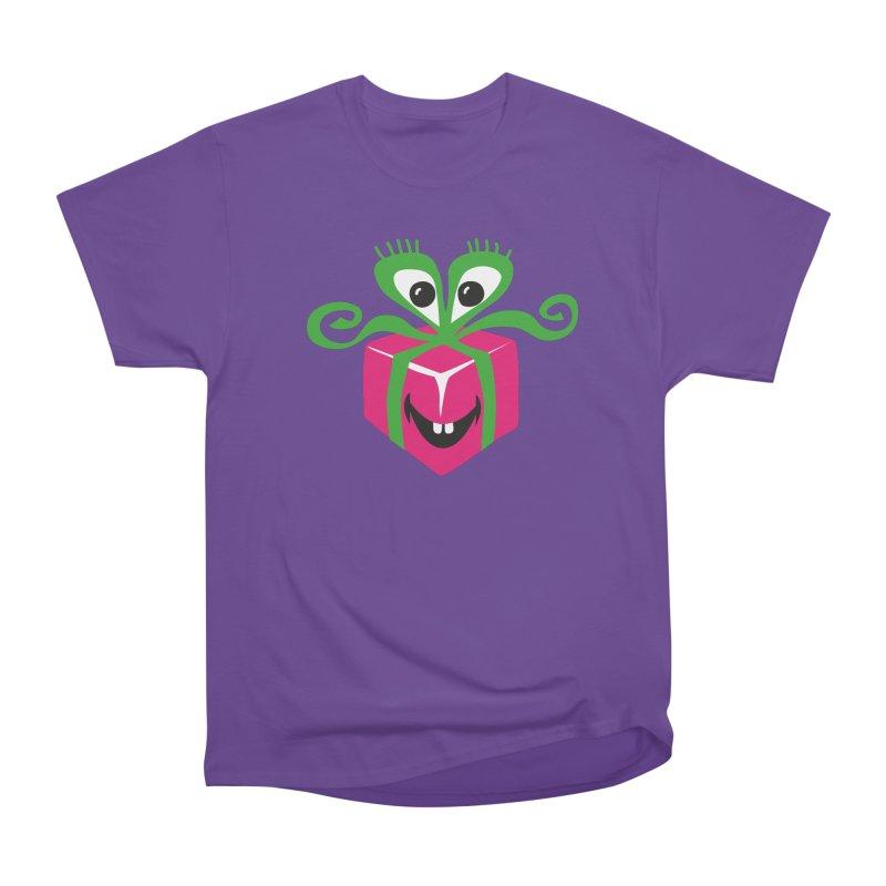 Happy Gift in Women's Heavyweight Unisex T-Shirt Purple by Dicker Dandy