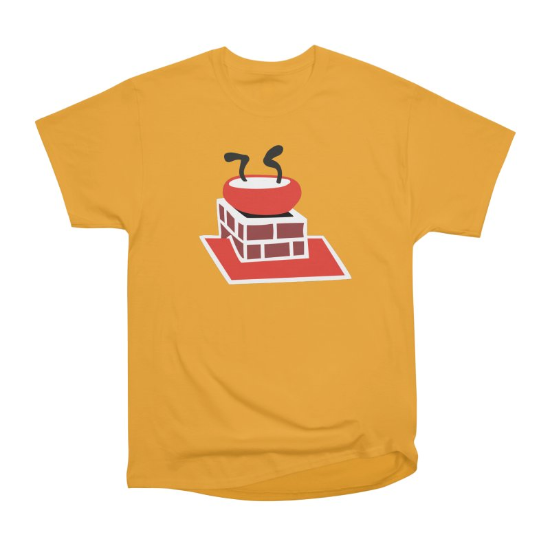 Chimney in Men's Classic T-Shirt Gold by Dicker Dandy