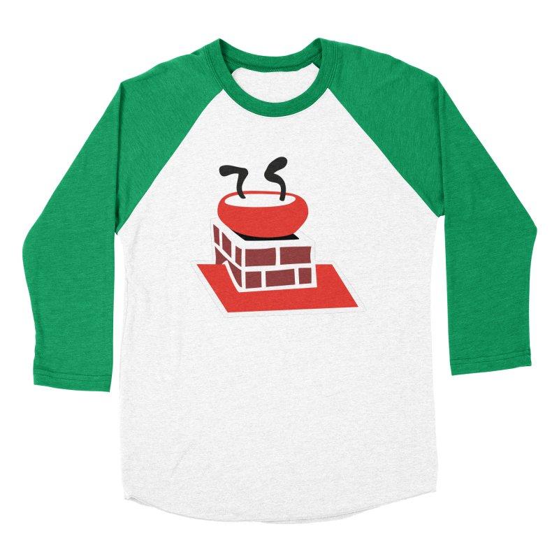 Chimney Men's Baseball Triblend Longsleeve T-Shirt by Dicker Dandy