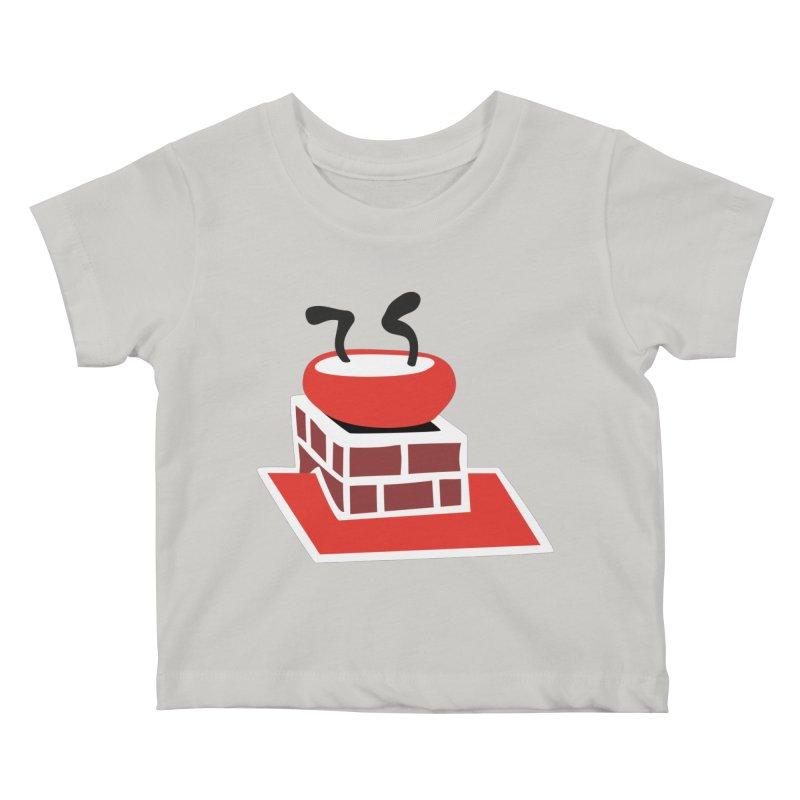 Chimney Kids Baby T-Shirt by Dicker Dandy