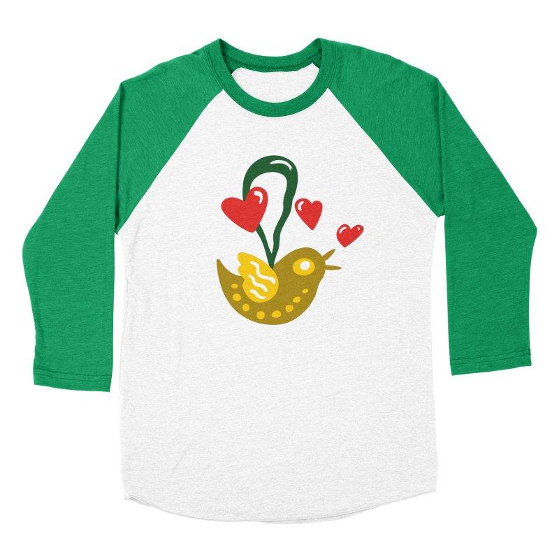 Fake Bird in Women's Baseball Triblend Longsleeve T-Shirt Tri-Kelly Sleeves by Dicker Dandy