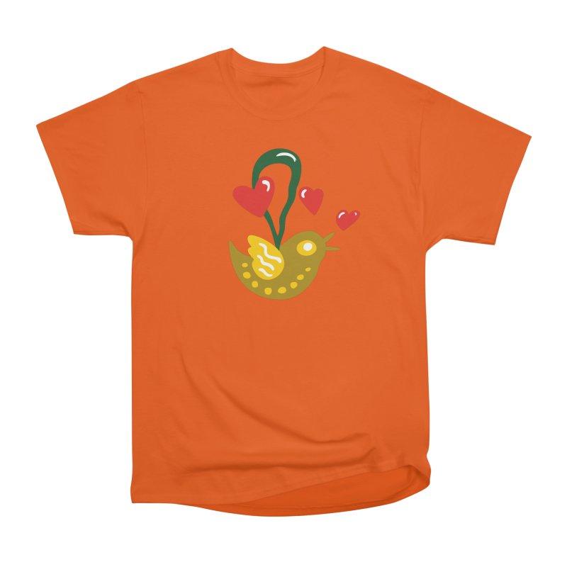 Fake Bird Men's Heavyweight T-Shirt by Dicker Dandy