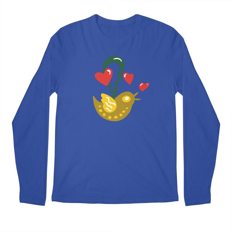 Fake Bird Men's Regular Longsleeve T-Shirt by Dicker Dandy