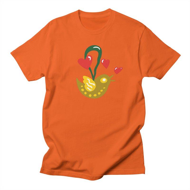 Fake Bird Men's Regular T-Shirt by Dicker Dandy