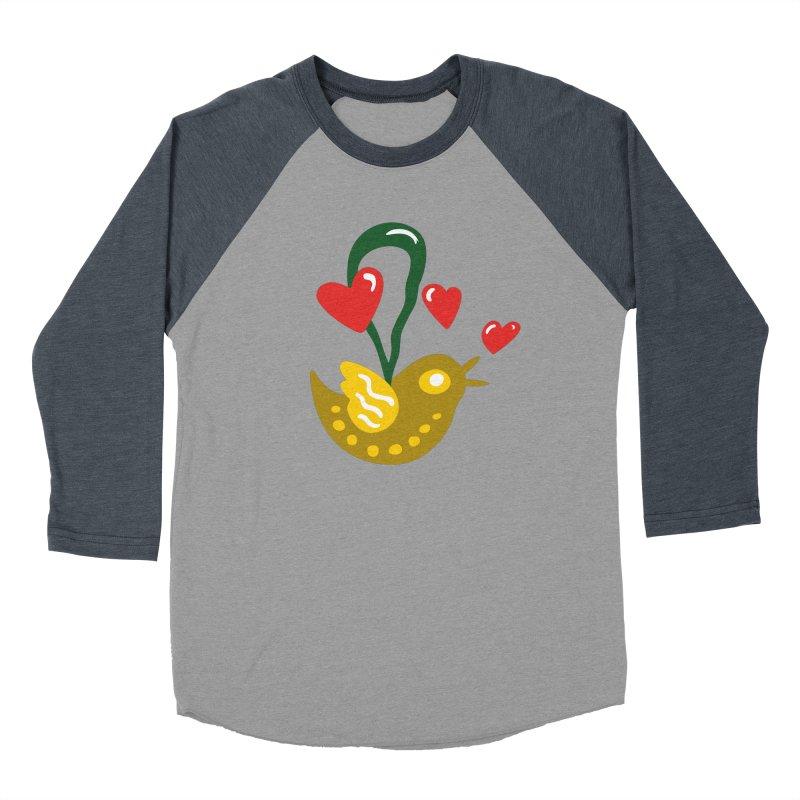 Fake Bird Women's Baseball Triblend T-Shirt by Dicker Dandy