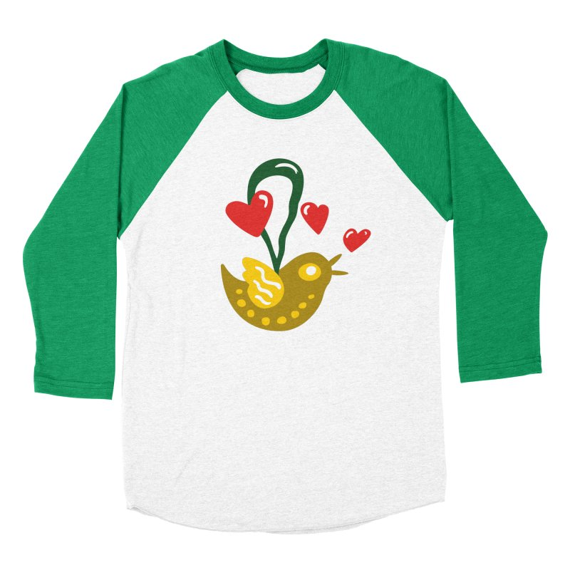 Fake Bird Men's Baseball Triblend T-Shirt by Dicker Dandy