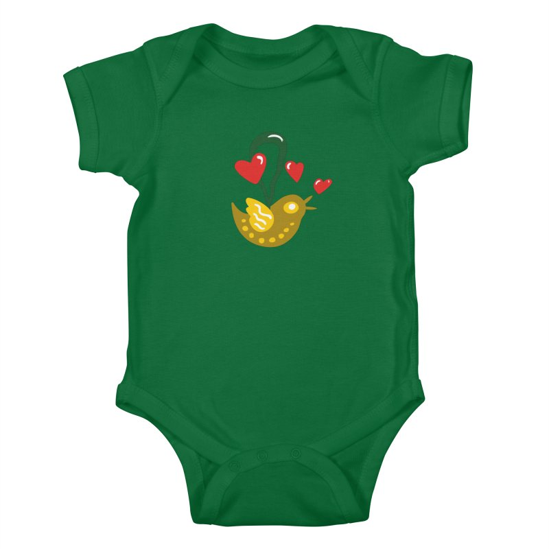 Fake Bird Kids Baby Bodysuit by Dicker Dandy