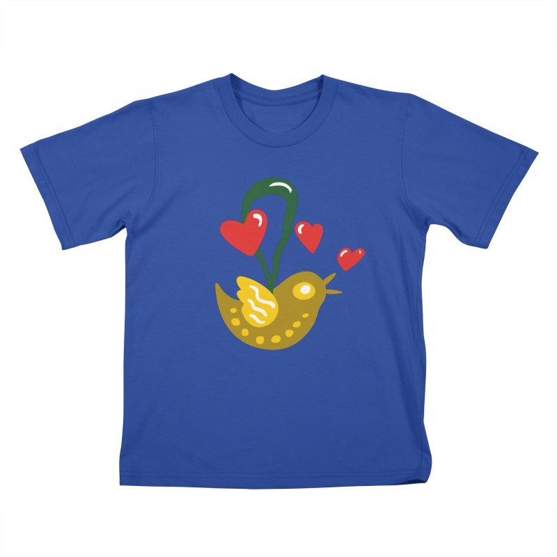 Fake Bird Kids T-Shirt by Dicker Dandy