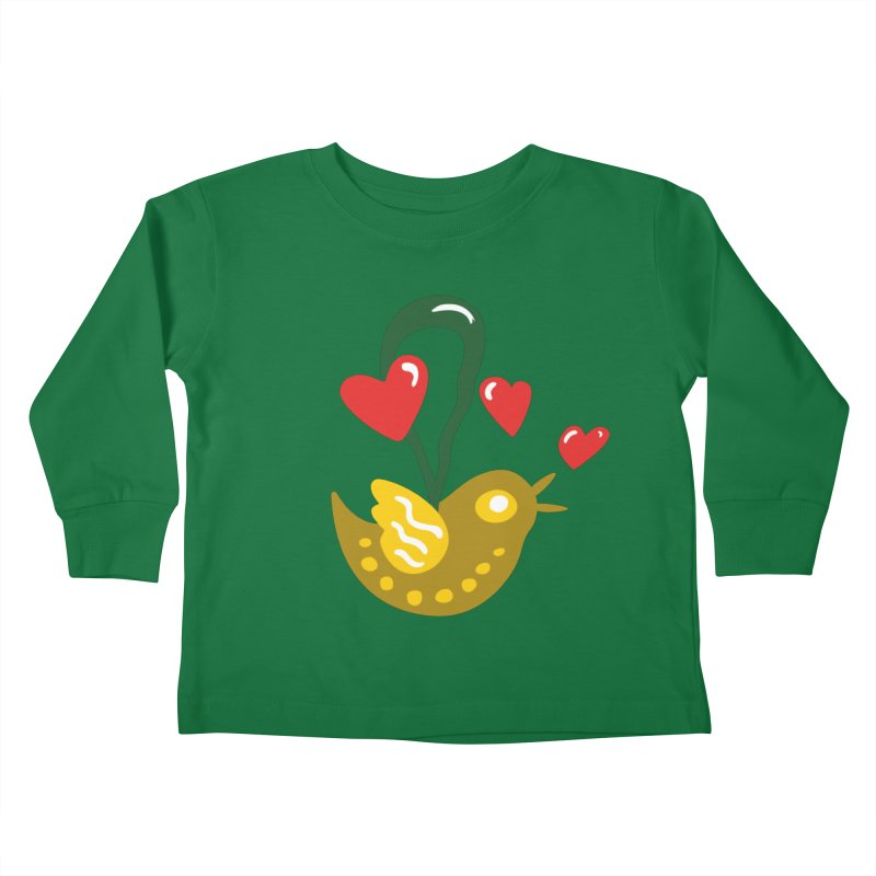Fake Bird Kids Toddler Longsleeve T-Shirt by Dicker Dandy