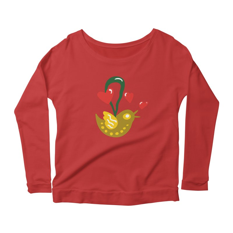 Fake Bird Women's Scoop Neck Longsleeve T-Shirt by Dicker Dandy