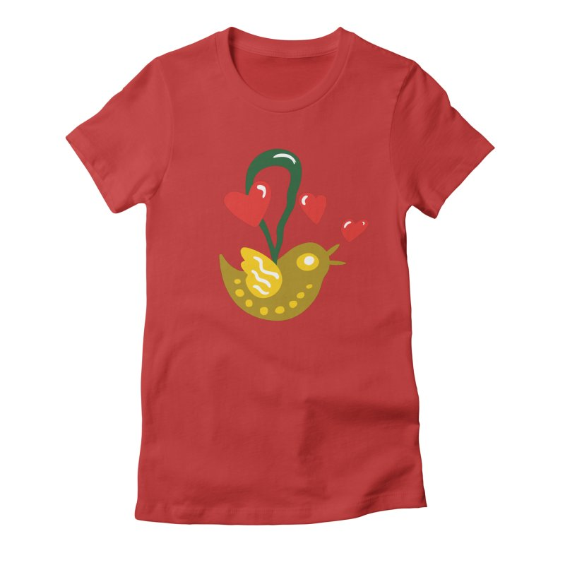 Fake Bird Women's Fitted T-Shirt by Dicker Dandy