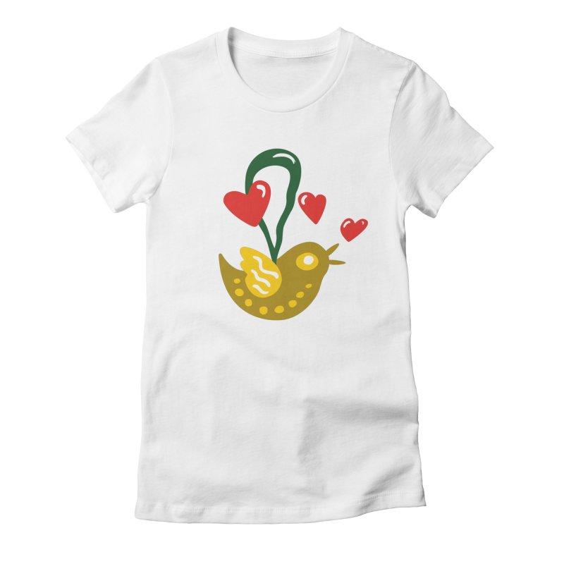 Fake Bird Women's Fitted T-Shirt by Dicker Dandy