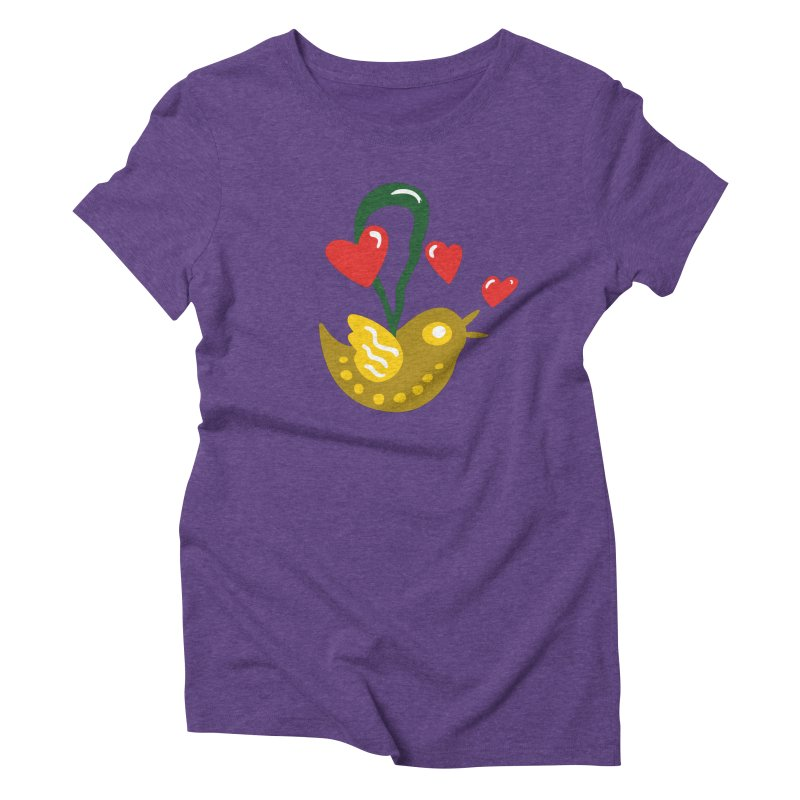 Fake Bird Women's Triblend T-Shirt by Dicker Dandy