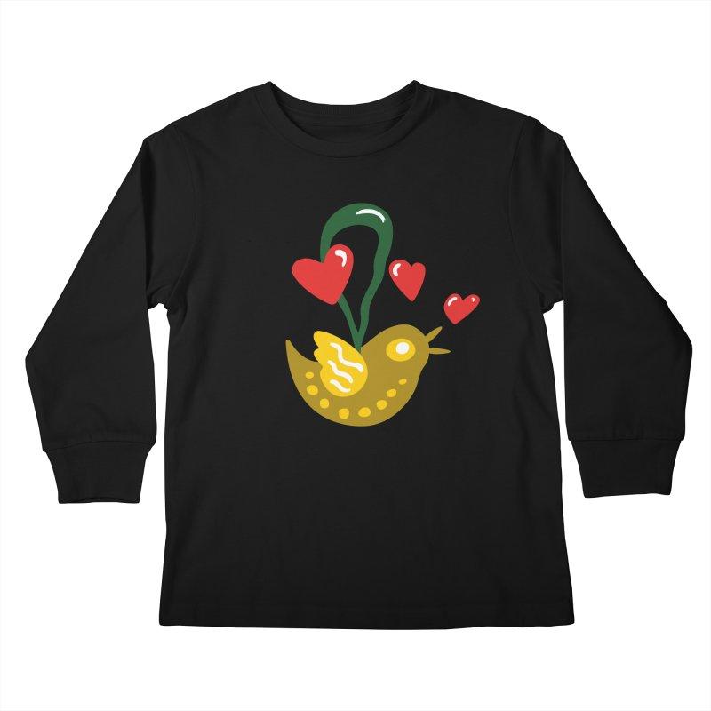 Fake Bird Kids Longsleeve T-Shirt by Dicker Dandy