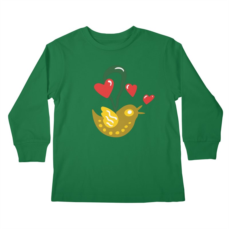 Fake Bird Kids Longsleeve T-Shirt by Dicker Dandy